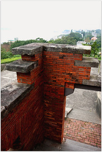Historical Fort San Domingo overlooking Tamsui River