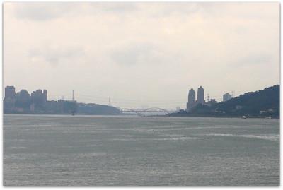 Guandu Bridge in the far end