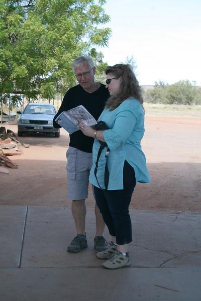Rob and Mel navigating