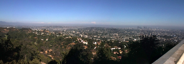 The view of LA from Griffith Park Observatory