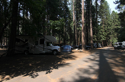 Our RV at Upper Pines in Yosemite. This turned out to be a really good spot.