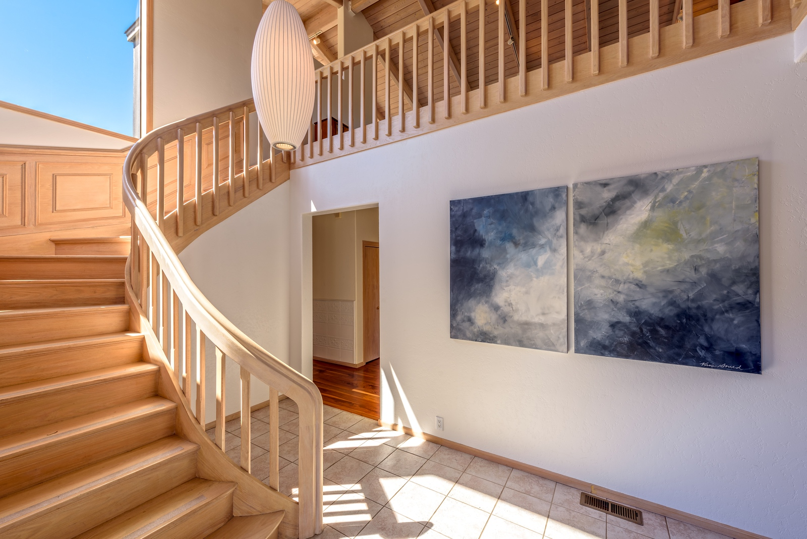 Staircase up to Living Room