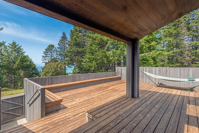 Back deck with view.