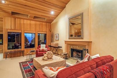 Living Room at twilight.