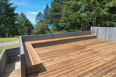 Big back deck.
