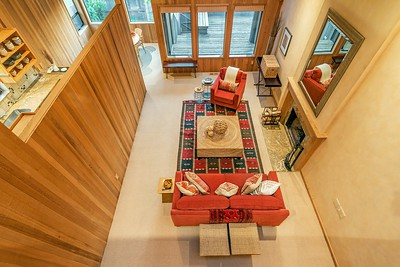 Living Room from above the loft.
