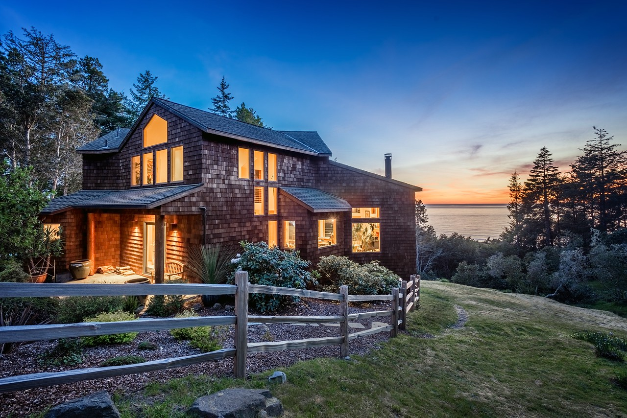 Crows Nest House at Twilight