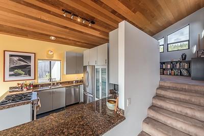 Kitchen & Stairs to Loft