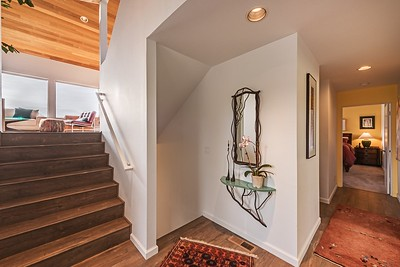 Front Entry and Stairs to Living Room & Kitchen