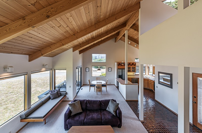 Living Room from Stairs to Loft