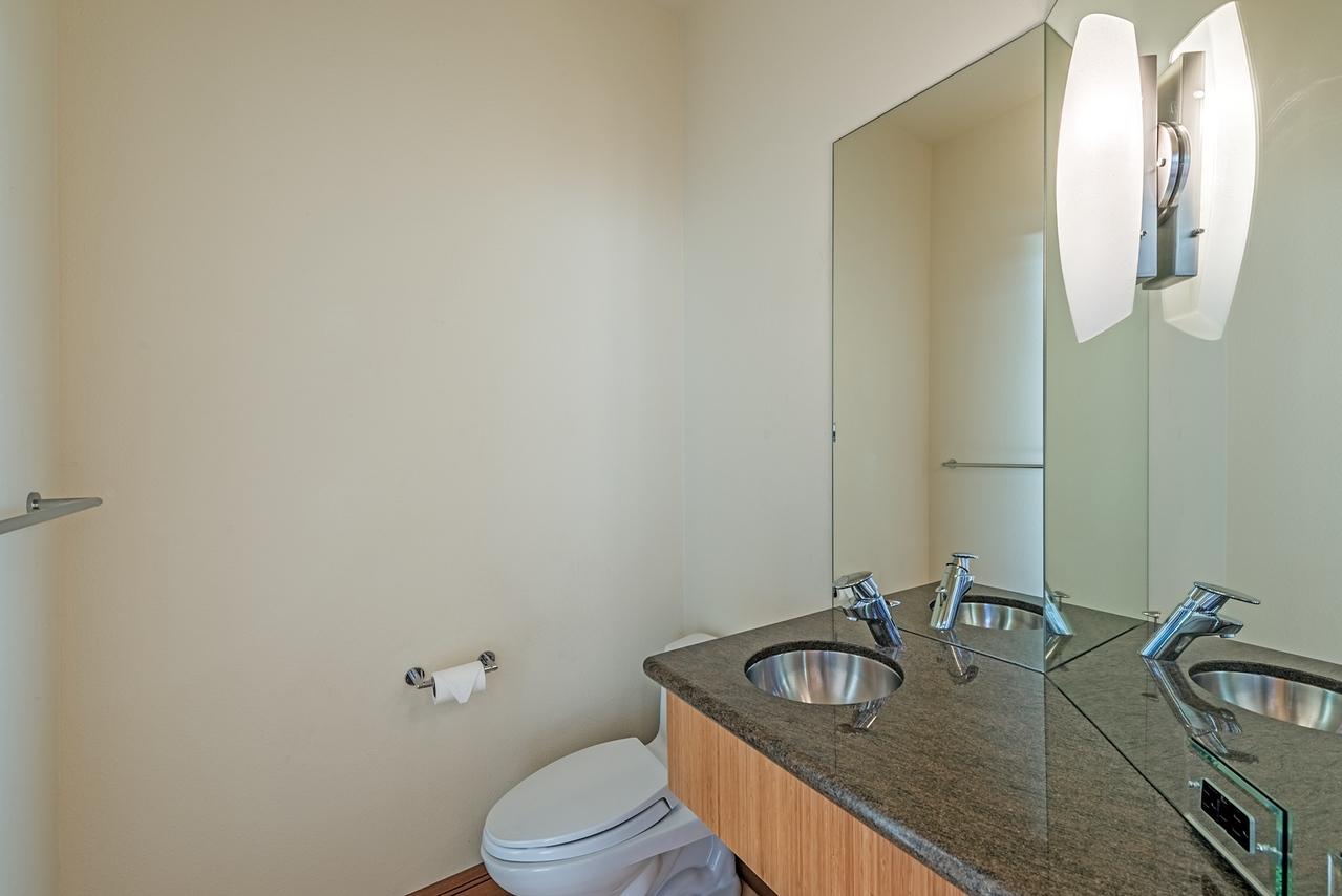 Half Bathroom off Kitchen
