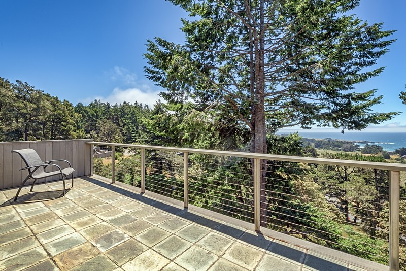 Big Deck with Ocean Views off Master Bedroom