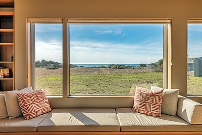 Window Seat Seat View in Living Room with Ocean Views