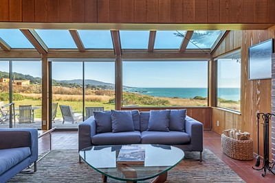Living Room with White Water Views