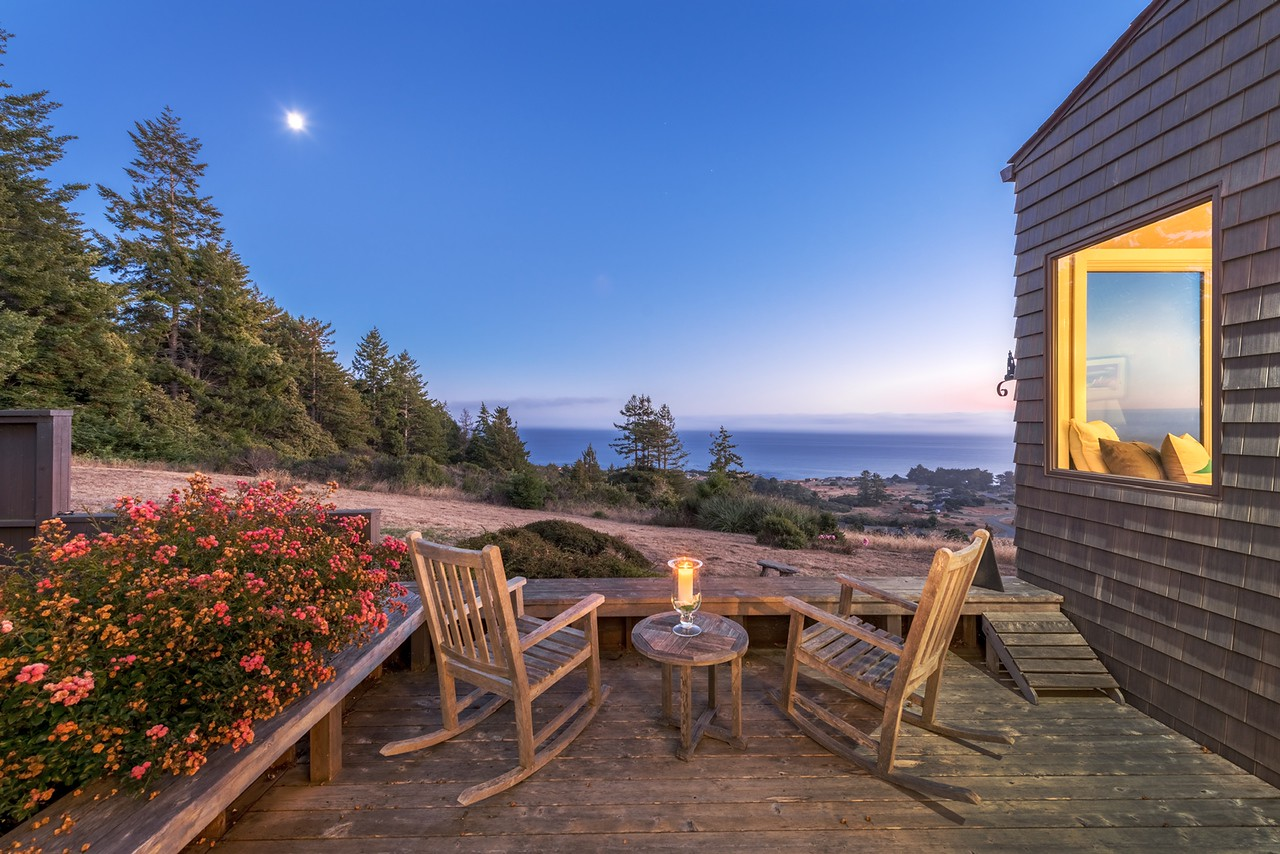 Back Deck by Moonlight