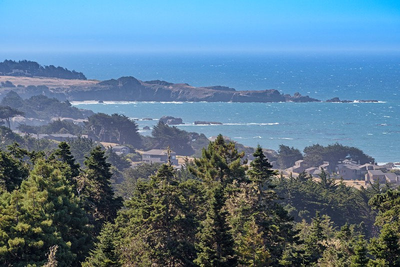 Telephoto View of Black Point & Sea Ranch Lodge