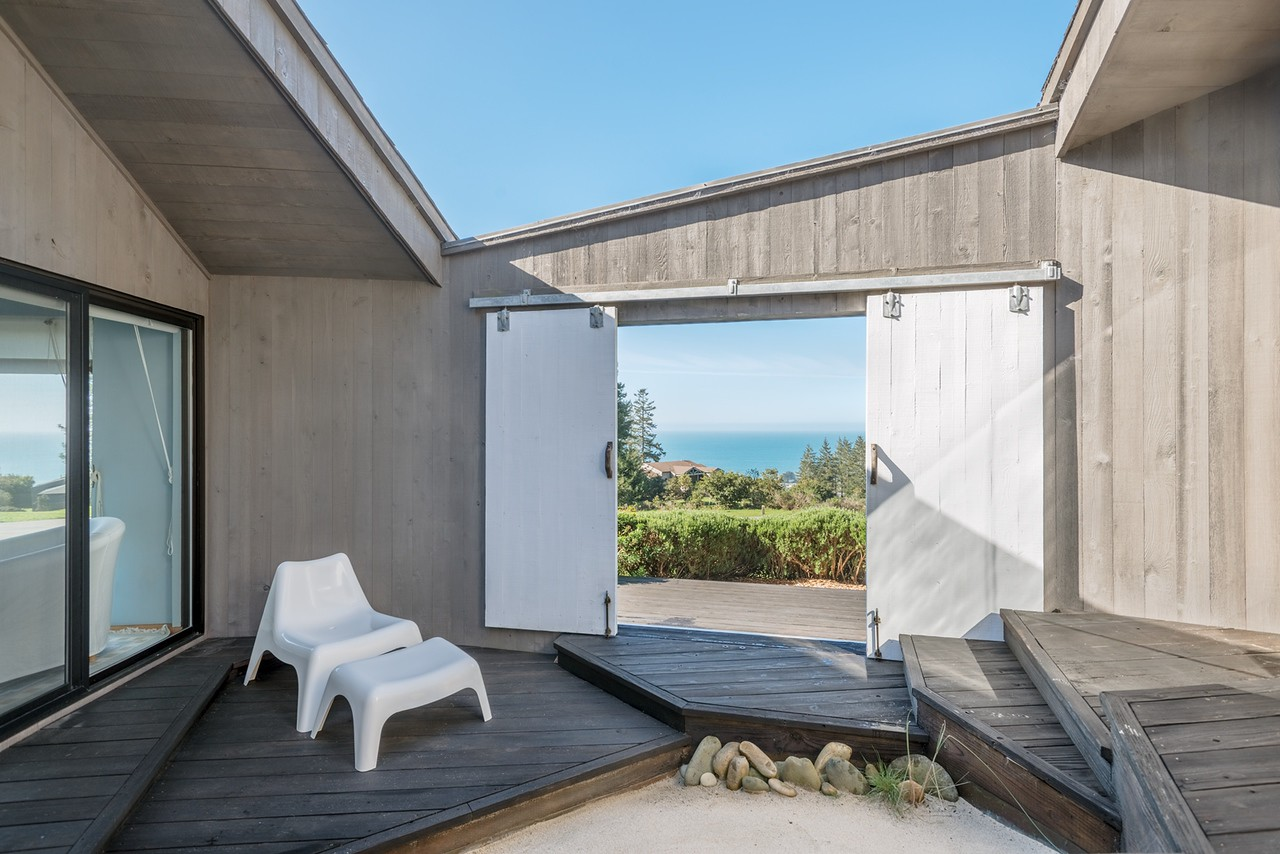 Front Entry Deck with Ocean View