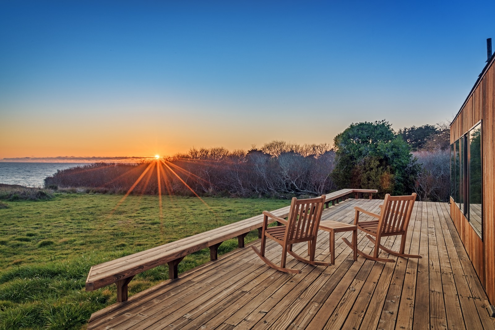 Watch Sunsets form Back Deck