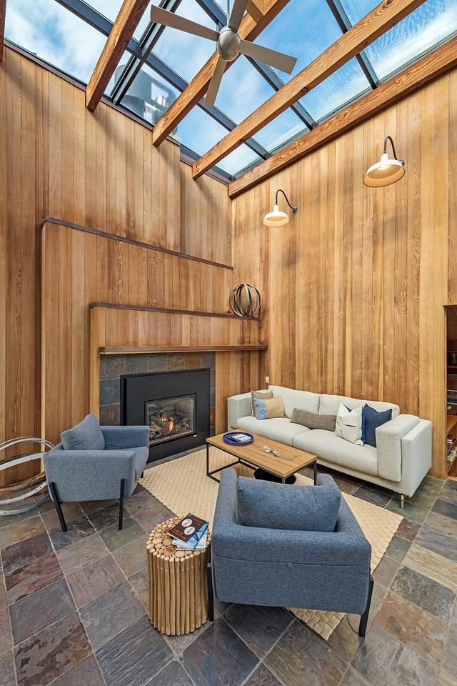 Glass Roof in Family Room