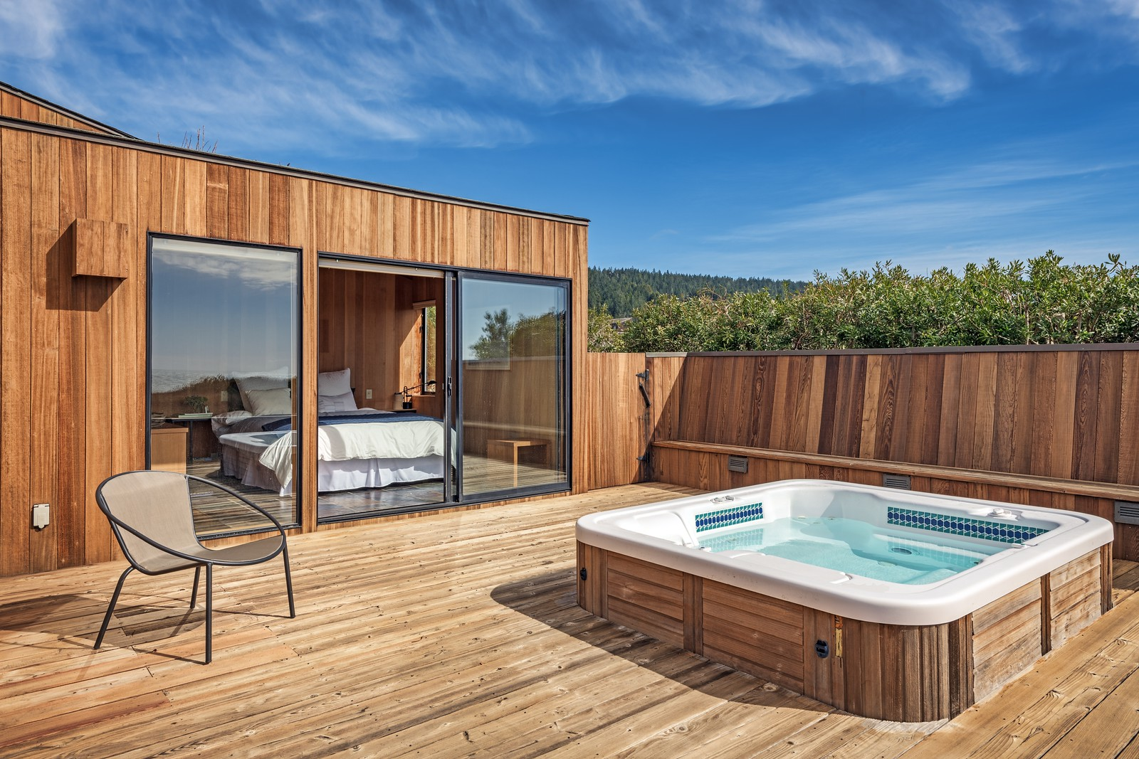 Private Deck off Guest Room