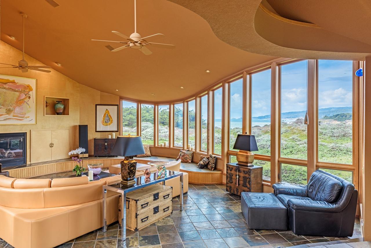 Living Room with Ocean Views