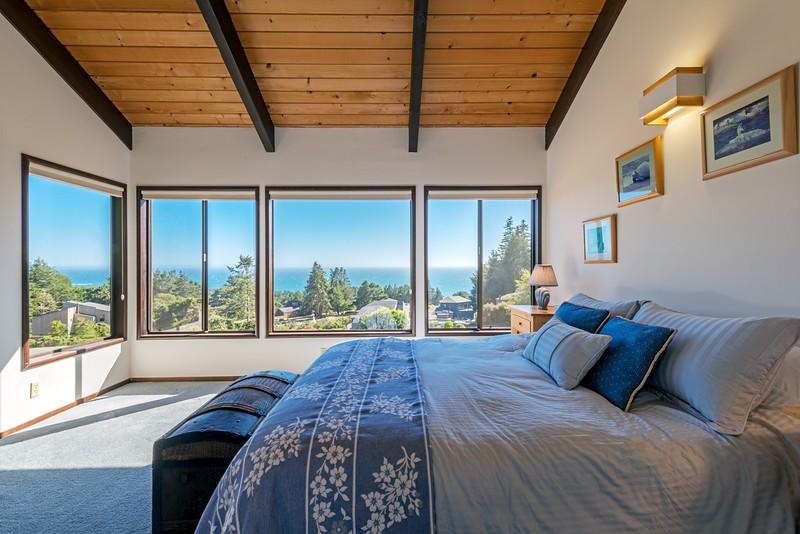 Master Bedroom with Panoramic Ocean Views