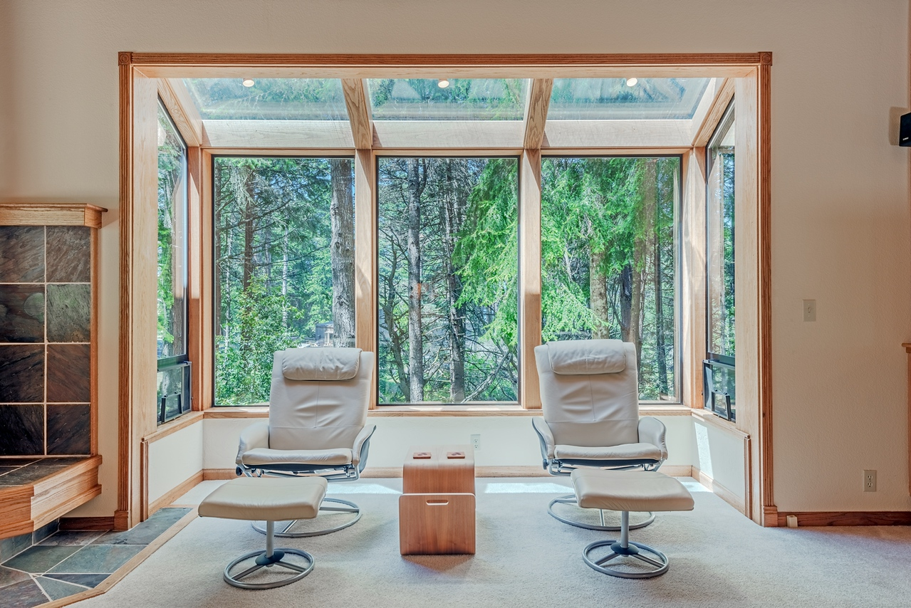 Sitting Area with Forest View