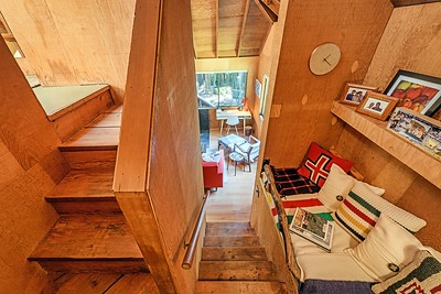 Looking Down at Side Bunk Bed