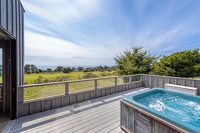 North Deck with Hot Tub & Ocean Views