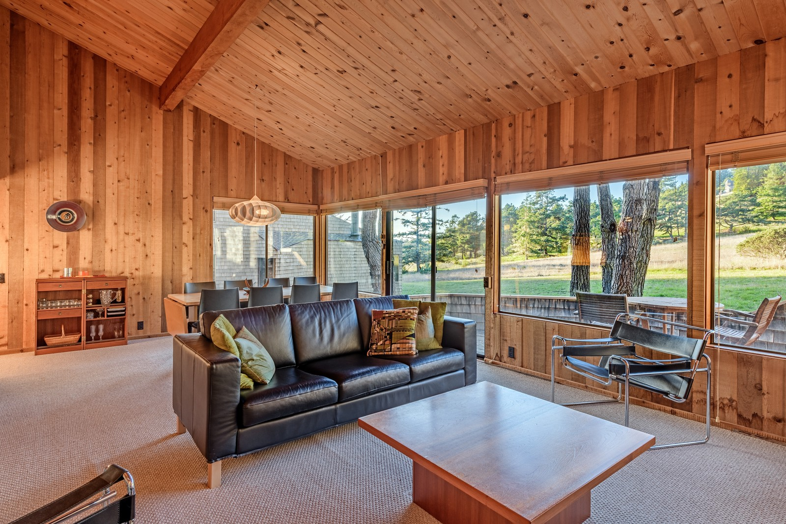 Living Room with Meadow View