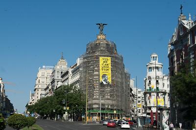 Acción TTIP Visita Obama Madrid