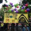 Manifestación contra la pobreza, la desigualdad y los tratados de libre comercio