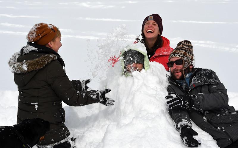 Snow Fun at N Boulder Park