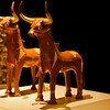 Ankara, Museum of Anatolian Civilization - Bull shaped ritual pottery - These two are most probably Hurri and Serri, the bulls of the Sun God - 16th century BC.