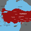 Map of Turkey with the areas visited