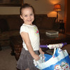 Gracie Wacie got a princess scooter - yippeee