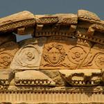 Details du haut de la bibliotèque de Celsius