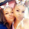 Magen Grays and Demetria McKinney on the set of 'A House Divided' - March 17, 2019