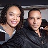 Demetria McKinney and Cisco Reyes on set of 'A House Divided' - March 23, 2019