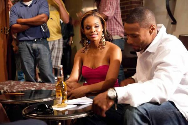 Demetria McKinney & Karon Riley on the set of Boulevard West!