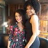 Brook England and Demetria McKinney on Set - BET and Centric - March 28, 2017