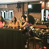 Gia Peppers, Demetria McKinney and Brook England on Set - BET and Centric - March 28, 2017