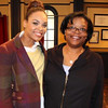 Demetria McKinney & Jacque on the set of 'Let's Stay Together'