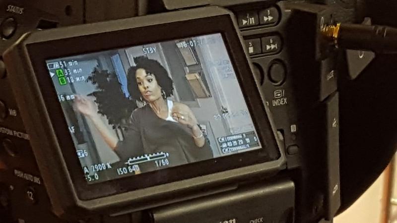 Demetria McKinney on Set - January 15, 2016