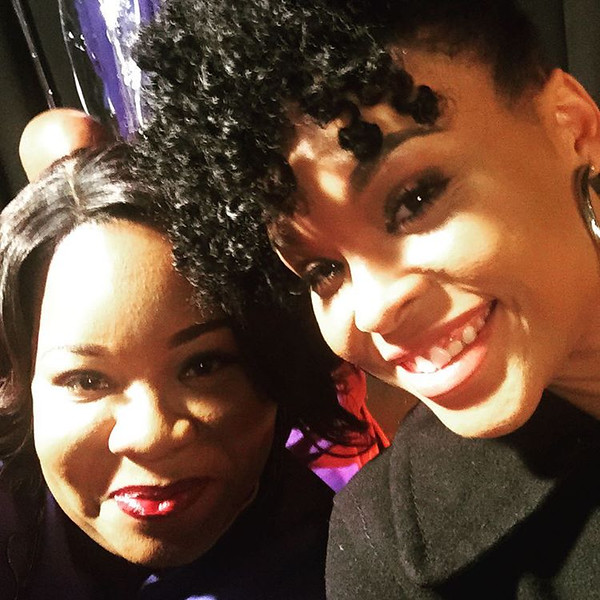 Mara Hall and Demetria McKinney on set of Saints and Sinners - Last Day Filming - January 30, 2016