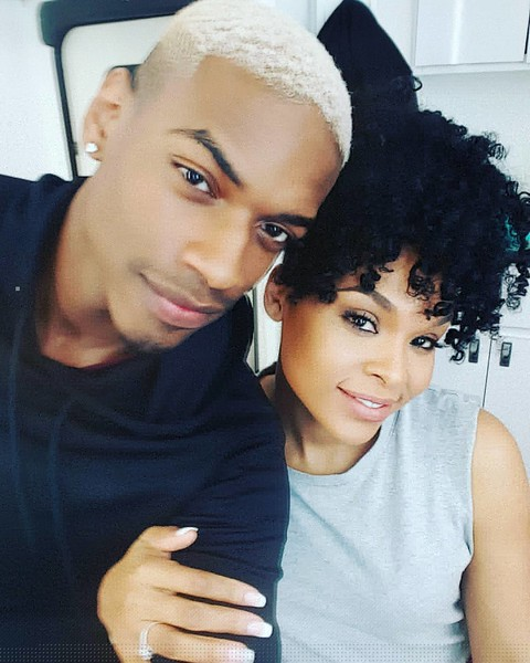 Jayson Glenn and Demetria McKinney on set of Saints and Sinners - Last Day Filming - January 30, 2016