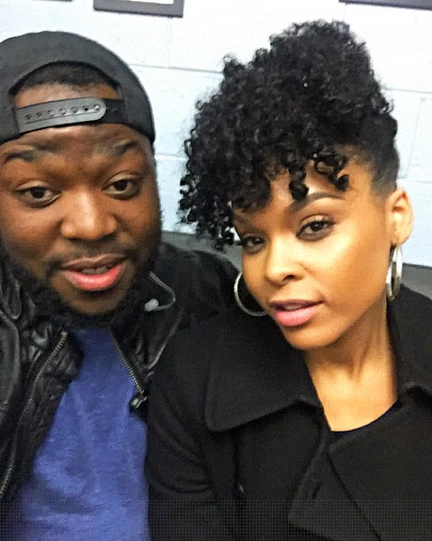 Michael Gillespie and Demetria McKinney on set of Saints and Sinners - Last Day Filming - January 30, 2016