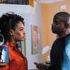 "Demetria McKinney and Keith Robinson on the set of ""Saints and Sinner"" EP #4 - ""We In This Together, Baby"""