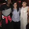 """Keith Robinson, Danielle West and Demetria McKinney on set of """"Saints and Sinners"""" - October 17, 2016"""