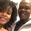 Demetria McKinney and Sam Rawls on the set of Saints and Sinners - February 1, 2018